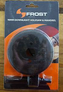 Frost 90mm Holesaw & Mandrel Kit Downlight Installation Hole Saw