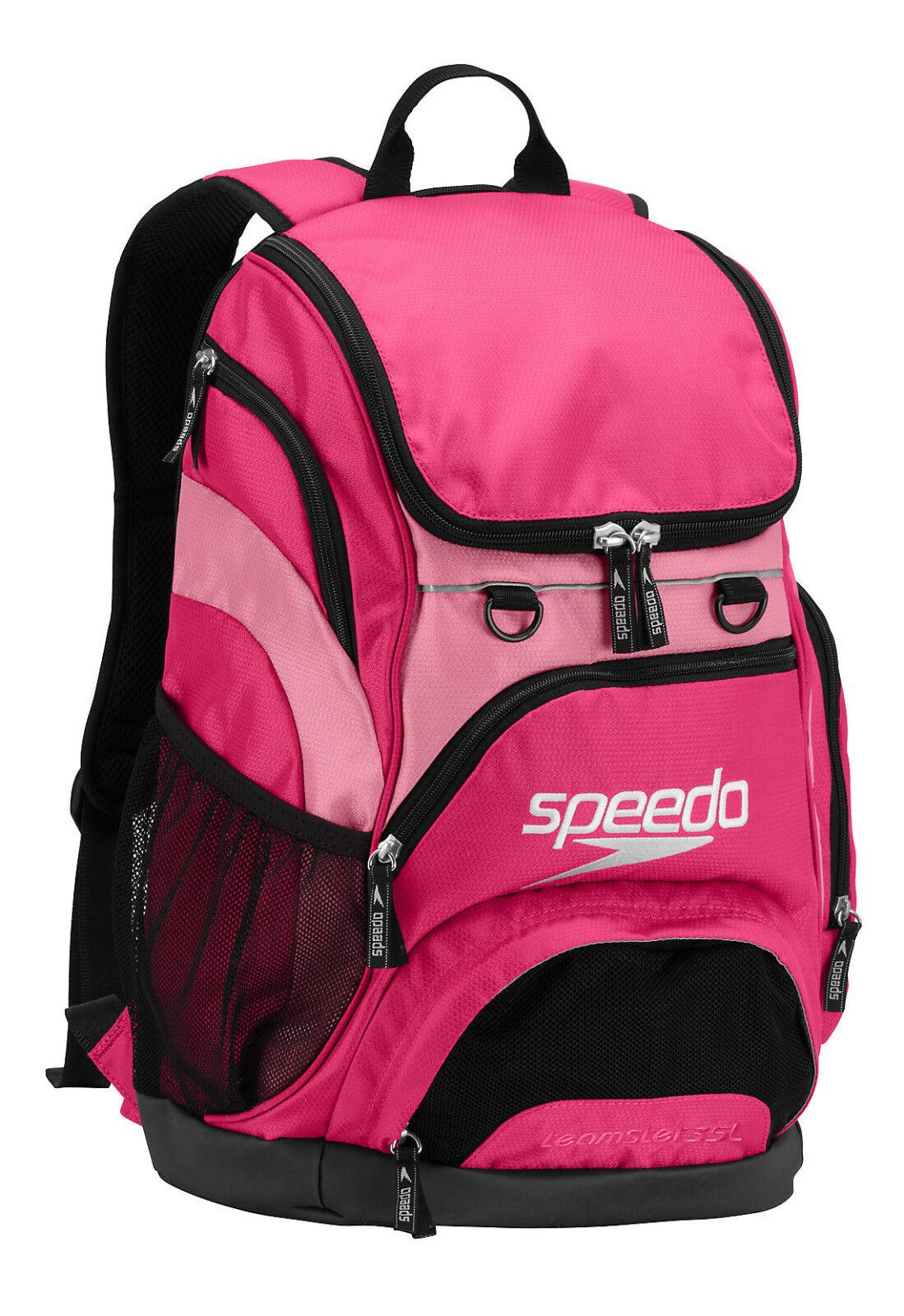 Speedo Large Teamster Backpack Swim Bag 35 L Liter AZALEA