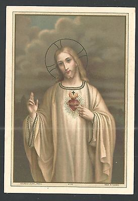Old lithographic sheet of Jesus santino holy card image pieuse estampa (Holy Card Sheet)