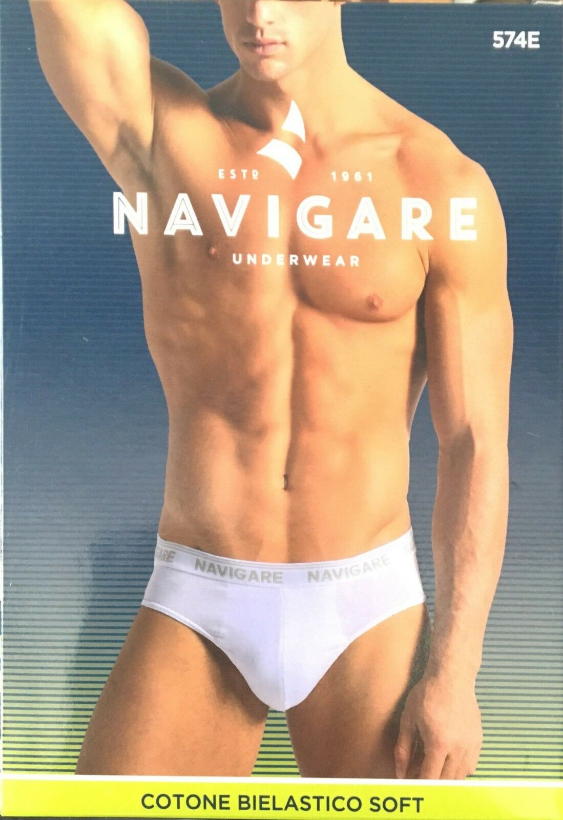 Mutande uomo navigare 6 paia slip intimo cotone elastico bianco nero assortito