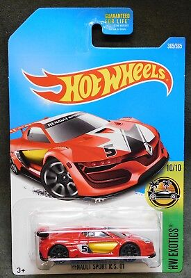2017 Hot Wheels Car 365/365 Renault Sport R.S. 01 - Q or International Case