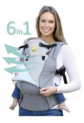 Lille Baby Complete Airflow Breathable 3D Mesh Baby Carrier Gray/silver