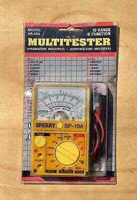 A.w. Sperry Instruments Inc. Multitester 15 Range 6 Function Model Sp-10a New