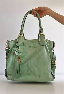 BRAND NEW GREEN LEATHER BAG - RRP$279 South Brisbane Brisbane South West Preview