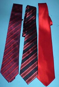 THREE PAUL FREDRICK SILK NECK TIES. 58 X 3-1/3 INCH.