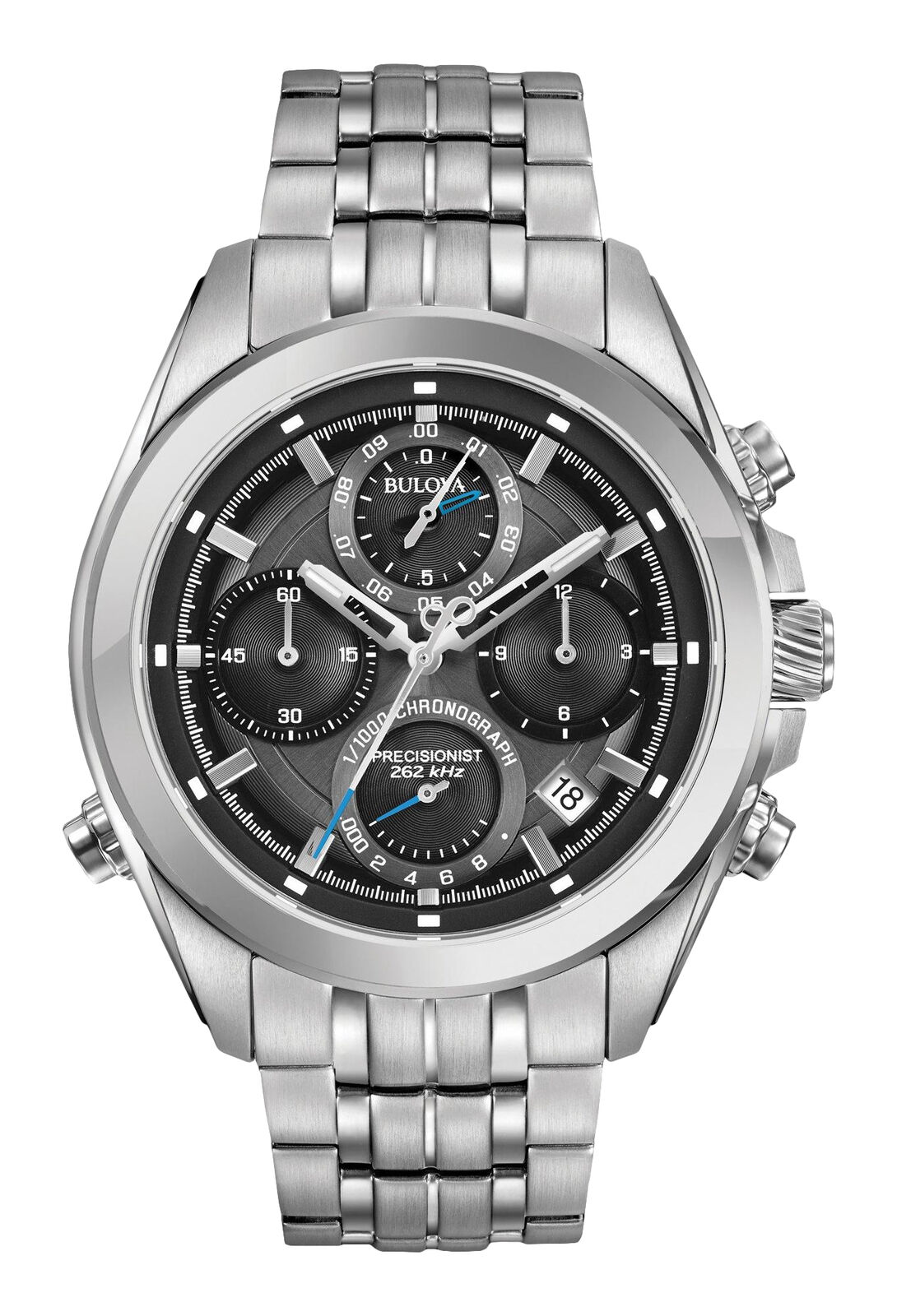 Bulova Precisionist Men's 96B260 Quartz Chronograph 44.5mm Bracelet Watch