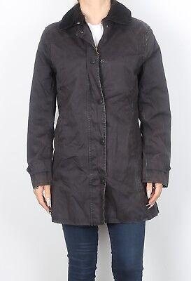(BARBOUR Lightweight Newmarket Jacket UK 10 Small Navy Blue (KEC) )