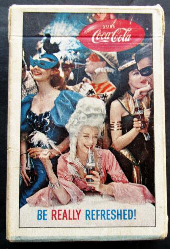 Vintage ORIGINAL 1960 Coca Cola Coke Masquerade Deck Of Playing Cards w 2 Jokers
