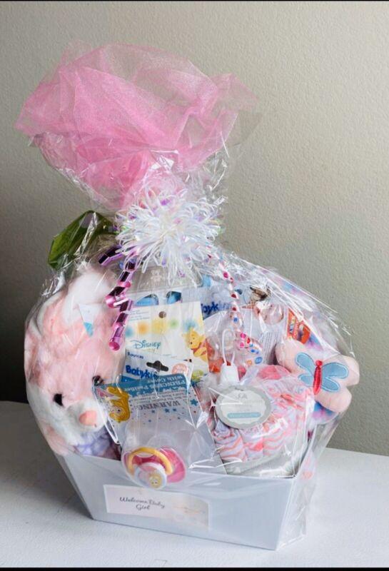 New Born Infant Baby Girl Shower Gift Basket Value Pack, Soft & Absorbent Towels