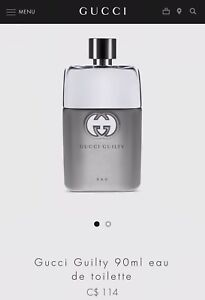 Gucci Guilty For men brand new sealed 90 mL