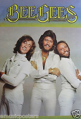 """BEE GEES """"CLASSIC SHOT OF BROTHERS DRESSED IN WHITE"""" ASIAN POSTER - Disco Music"""