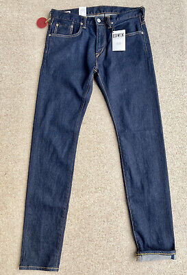 Edwin 'Made in Japan' Kaihara Selvage Slim Tapered Jeans W30 L32 RRP £140