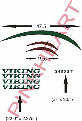 VIKING  Pop up decal  Rv camper decals graphics sticker  jayco p'up popup tent