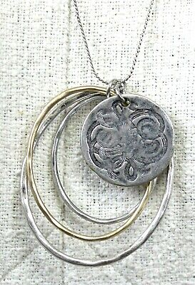 Zara Necklace Celtic Knot Oval Pendant Silver Gold Toned Long Accessory Jewelry
