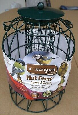 2x Caged Nut Feeders Squirrel Pigeon & Large Bird Proof. Peanut small wild food