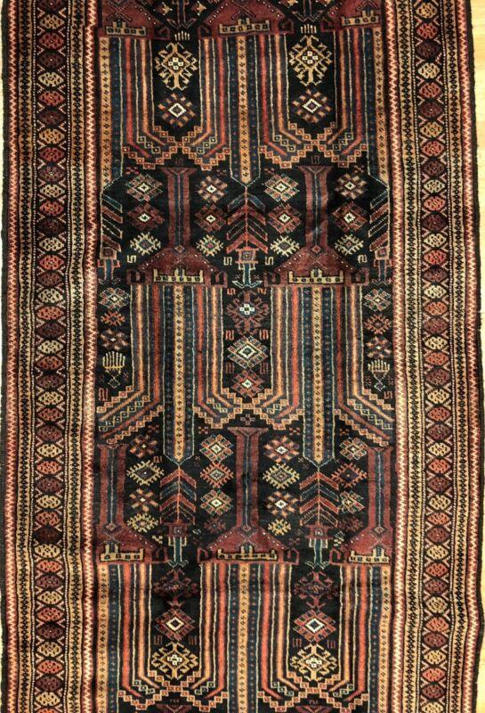 Beautiful Balouch - 1940s Antique Persian Rug - Tribal Runner - 3.8 X 8 Ft.