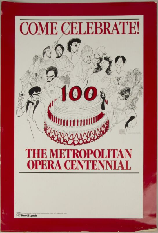OPERA 20th Century / Poster for the Metropolitan Opera Centennial featuring 11