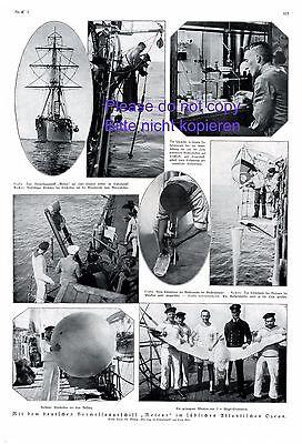 Vermessungsschiff Meteor XL Seite 1925 Atlantik Vermessung Forschungsschiff +
