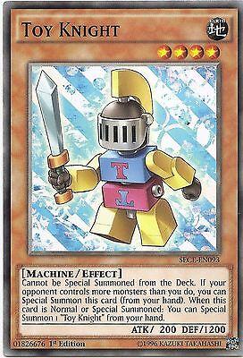 Toy Knight SECE-EN093 Yu-Gi-Oh Card Single/Playset 1st Edition New