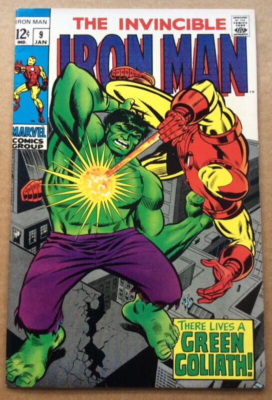 IRON MAN #9 (1969) Marvel; Goodwin, Tuska; High Grade Silver Age; Android Hulk