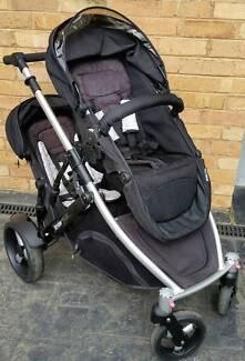 Strider plus 4 wheel double pram / stroller
