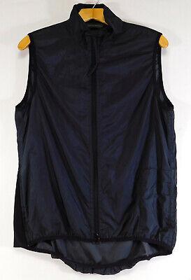 BANANA REPUBLIC Nylon VEST Full Zip Sleeveless Windbreaker Black MEN'S SMALL Full Zip Windbreaker