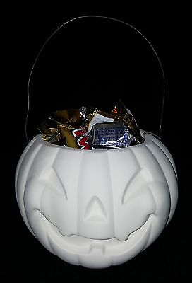 Kimple 1519 - Halloween Pumpkin Candy Bucket - Ready to Paint Ceramic Bisque