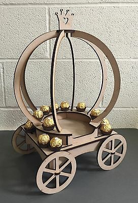 Y112 Ferrero Rocher Princess Carriage Candy Cart Sweet Table Centre Stand Holder - Princess Carriage Centerpiece