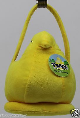 Peeps Easter Halloween Yellow Chick Plush Tote Basket NWT - Peeps Halloween