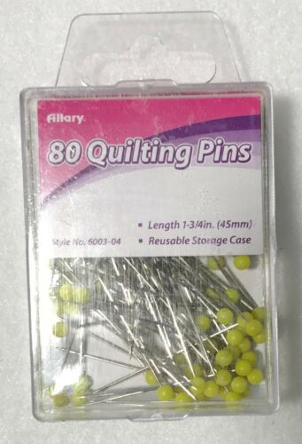 Size 17 Allary #327 100 Brass Straight Pins With Reusable Plastic Case