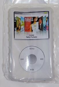 White Silicone Skin Case for iPod Classic Thin with Click Wheel 5 & 7 Generation