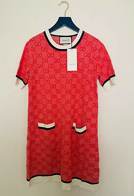 GUCCI GG cotton wool dress sz M