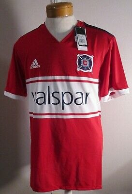 5c7e103f3c55a NWT Adidas Chicago Fire Mens 2018 Primary Replica S/S Jersey M Red MSRP$85