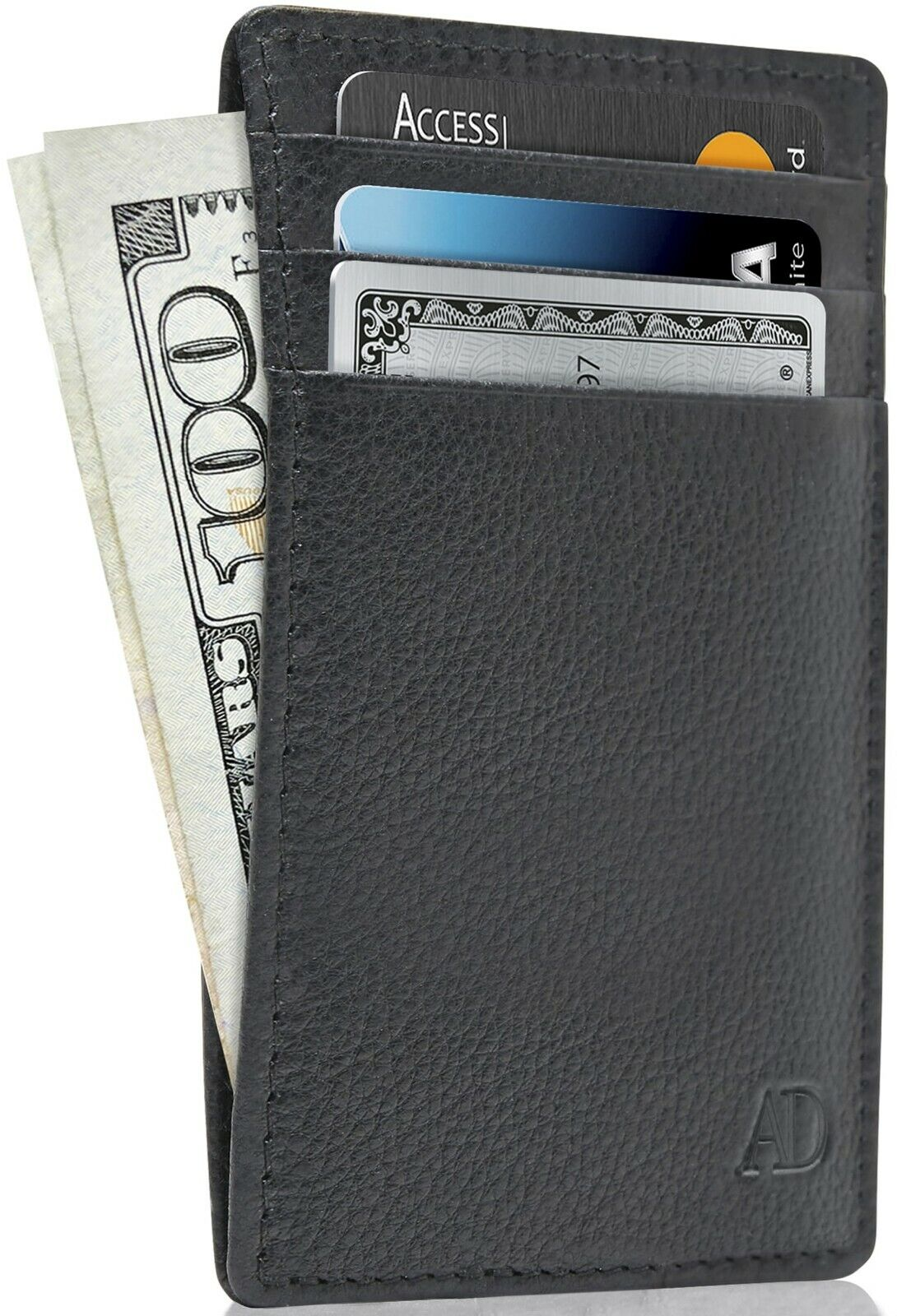 new genuine leather slim card holder wallets
