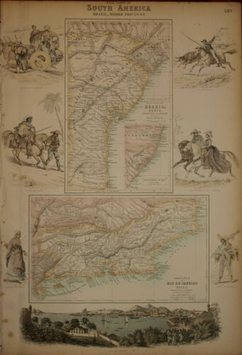 THE EAST COAST OF SOUTH AMERICA, BRAZIL BY ARCHIBALD FULLARTON 1874.