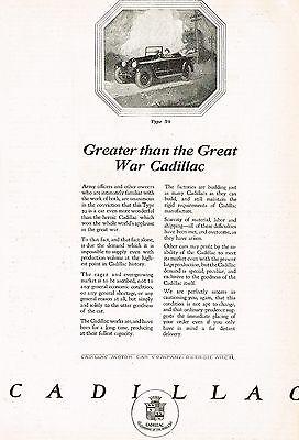 1920 Original Old Vintage Cadillac Motor Car Co. 81 Automobile Art Print Ad