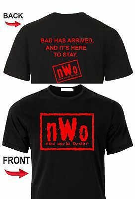 New World Order T-Shirt nWo Logo WCW Professional Wrestling T Shirt Tee New World Order T-shirt