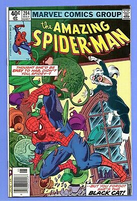 The Amazing Spider-Man #204 Marvel 1980 VF Early Black Cat