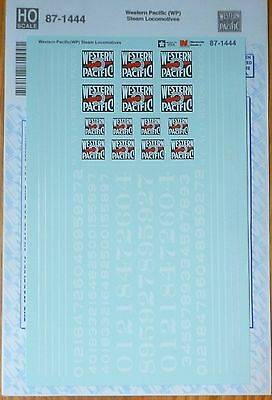 Microscale Decal HO #87-1444 Western Pacific (WP) Steam Locomotives (Decals)