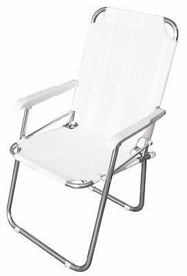 Armchair Small Armchair Chair Playa Aluminum White for Sea Pool Outer