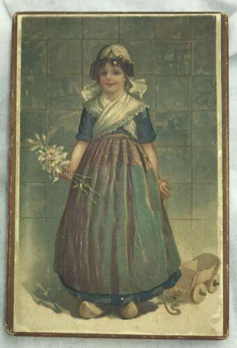 Early Handkerchief Box Dutch Girl