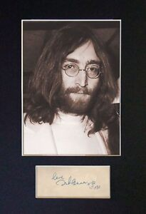 John Lennon (The Beatles) - Signed / Autographed Photograph + FREE SHIPPING