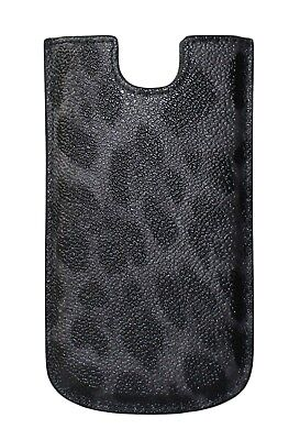 NEW DOLCE & GABBANA Phone Case Cover Gray Leopard Pattern Leather 13x7,5 cm