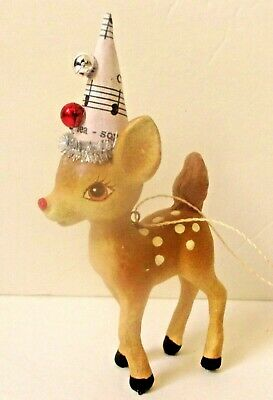 """Bethany Lowe Designs """"Christmas Deer Ornament"""" Autographed by Bethany Lowe!!"""