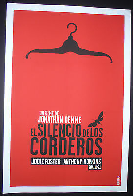 SILENCE OF THE LAMBS Hand-Signed Cuban Silk-screen Movie Tribute Poster CUBA ART