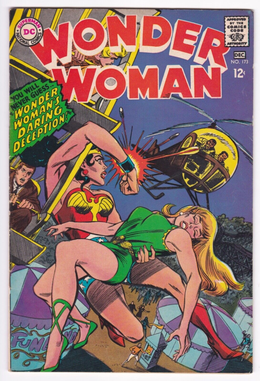 WONDER WOMAN #173 FINE- 5.5 1967 , Off-white Pages, Full-page ad for Spectre 1