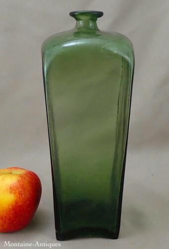 Light Green  Blown Glass Gin Bottle c. 1750