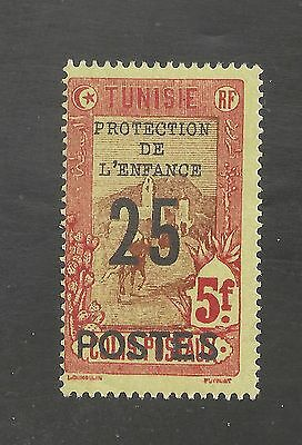 Tunisia #B46 FVF MLH - 1925 25c on 5fr Surcharged - SCV $52.50