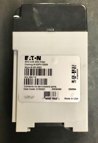 EATON AGPV12005 AEG1S SPD EMI Filter 450 0051