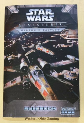 Star Wars Miniatures Starship Battles Rulebook USED READ
